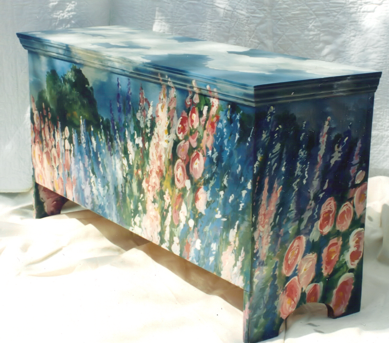 Captivating Painted Cottage Trunk From My Painted Furniture ...