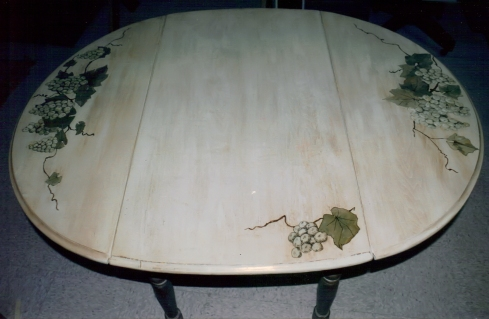 Drop Leaf Table with Faux Finish