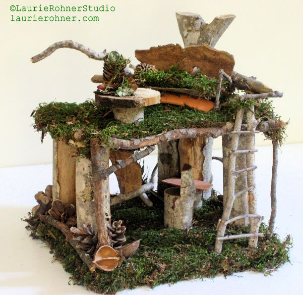 Woodland Fairy House Artist Loft