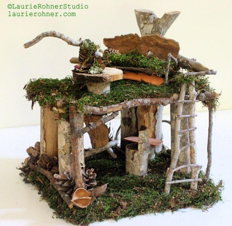 Woodland Fairy House Artist Loft