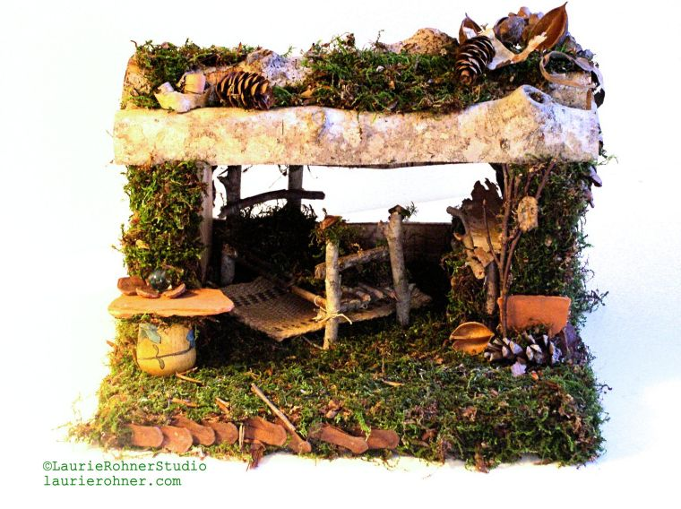 Mystic fairy house with bed
