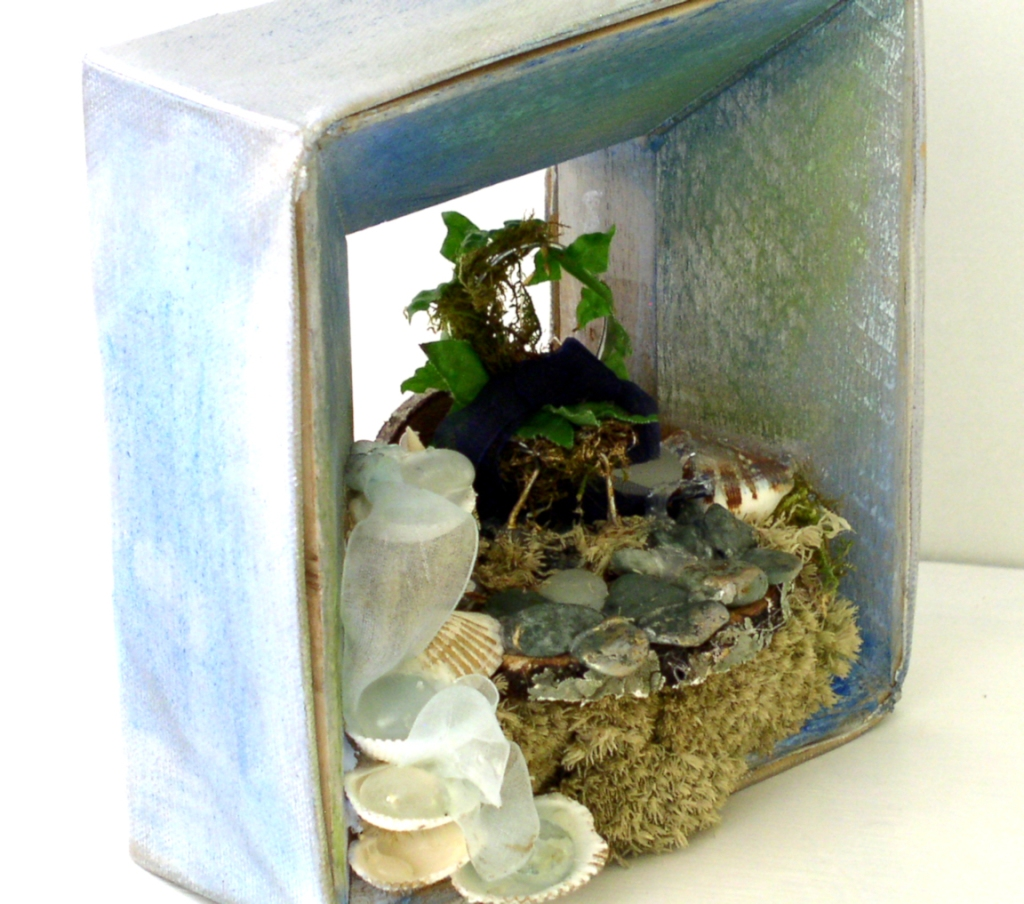 Fairy house by the sea, before.