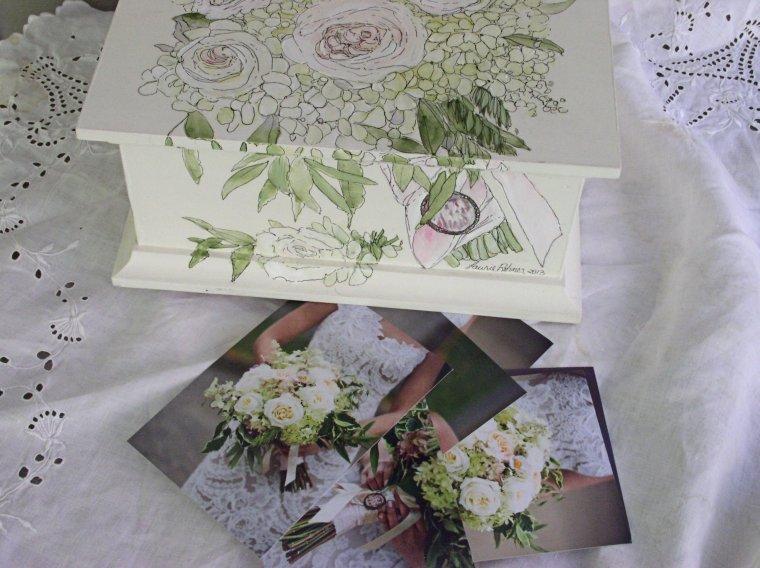 Painted Keepsake Box and Photos