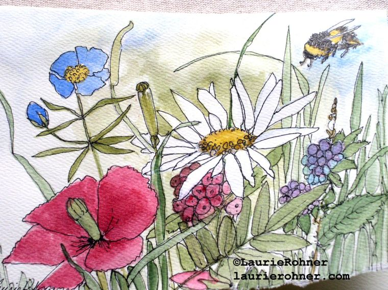 Garden Nature Art Card Botanical Watercolor buy at Between The Weeds