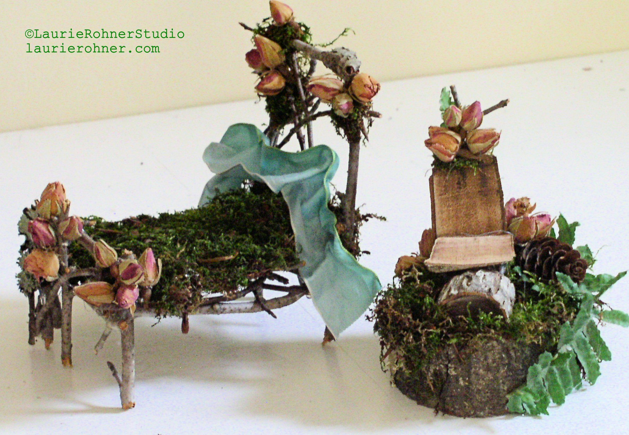 Attractive Woodland Fairy House Furniture