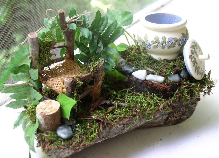 Woodland Fairy House setting