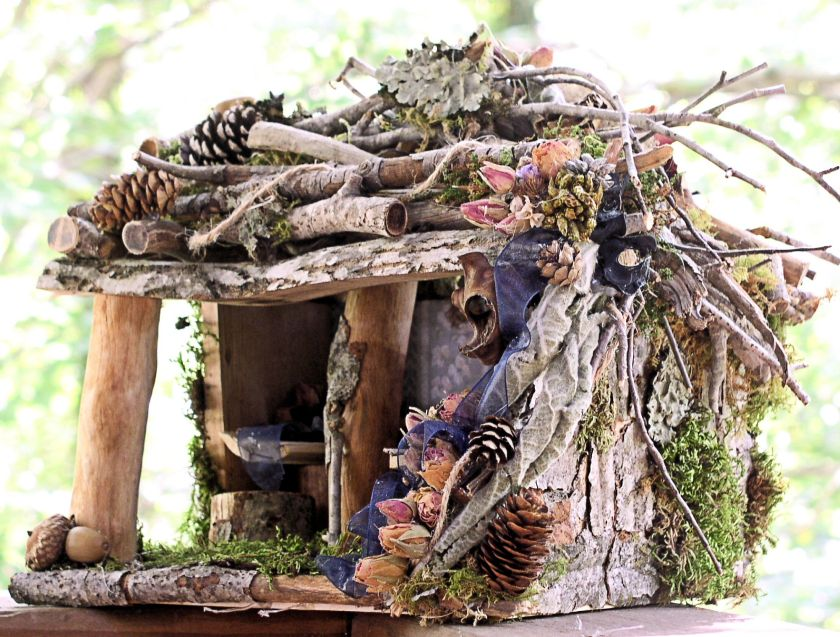 Woodland Fairy House Rose Cottage