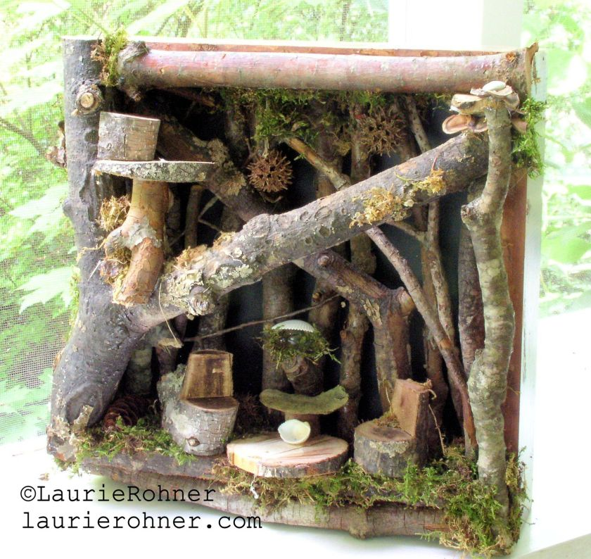 Buy sculpted woodland fairy house at laurierohner.com