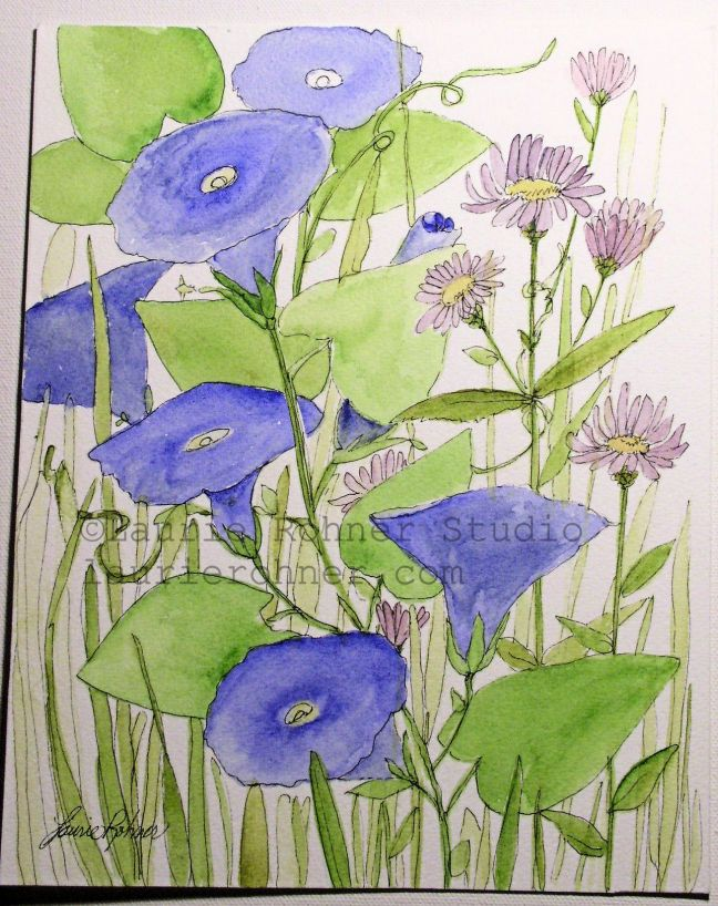 Between The Weeds watercolor original