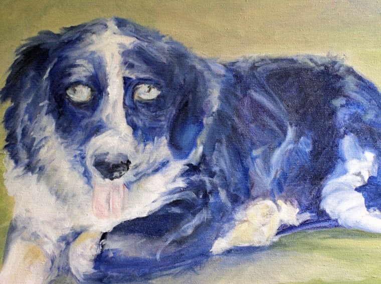 Molly Oil Painting by Laurie Rohner