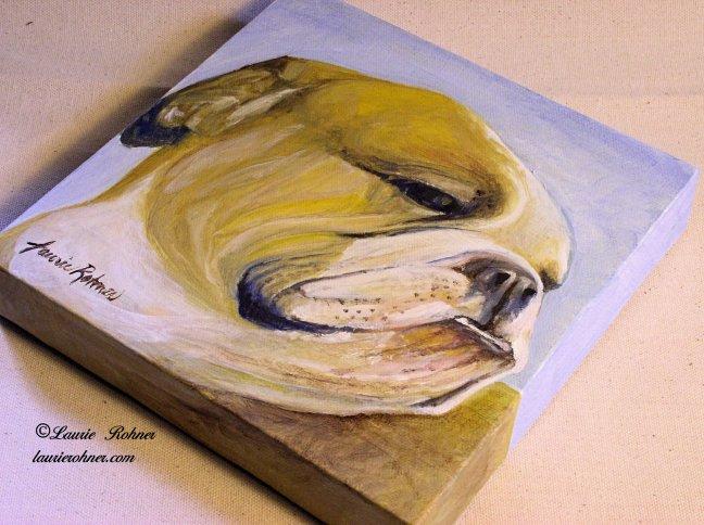 Bulldog oil painting