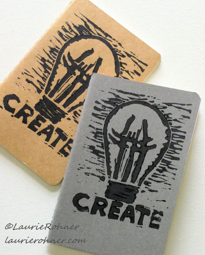 Hand Printed journal cover