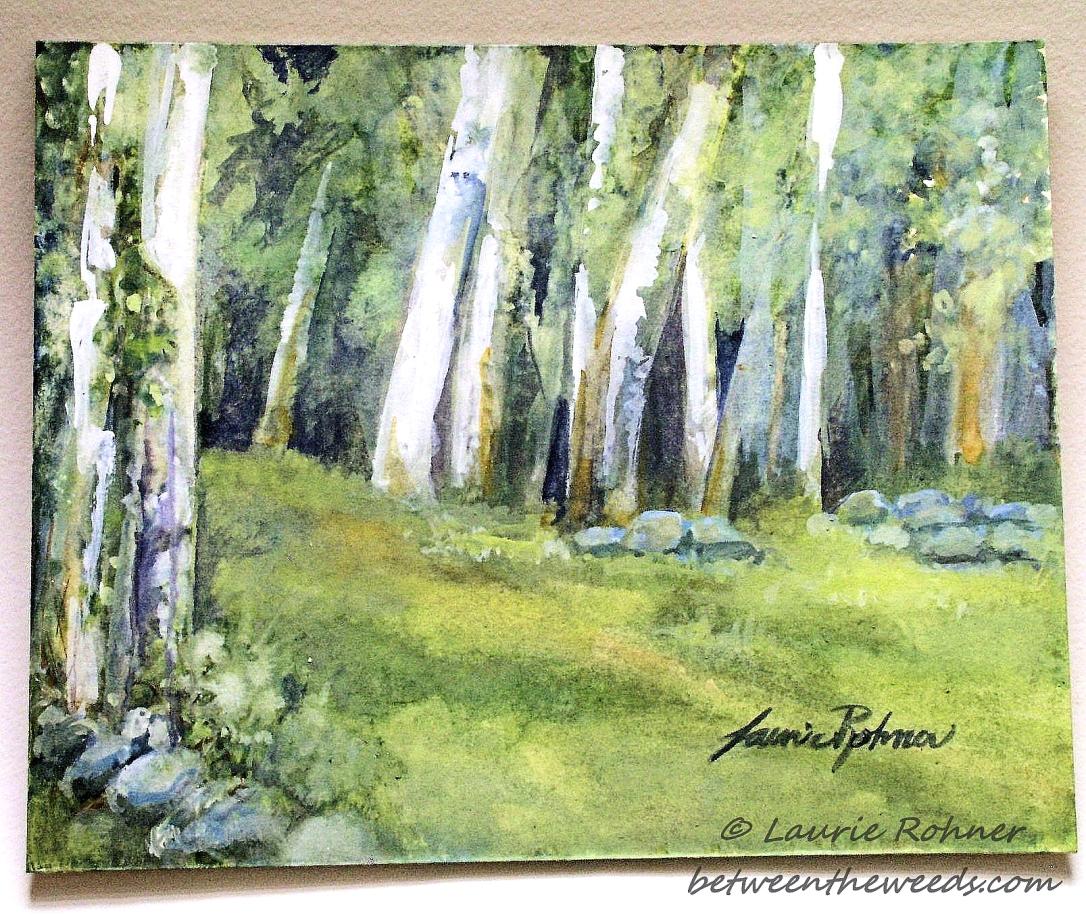 Title: Spring Fields Medium: watercolor on board