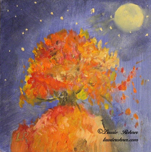 Whimsical autumn fall painting