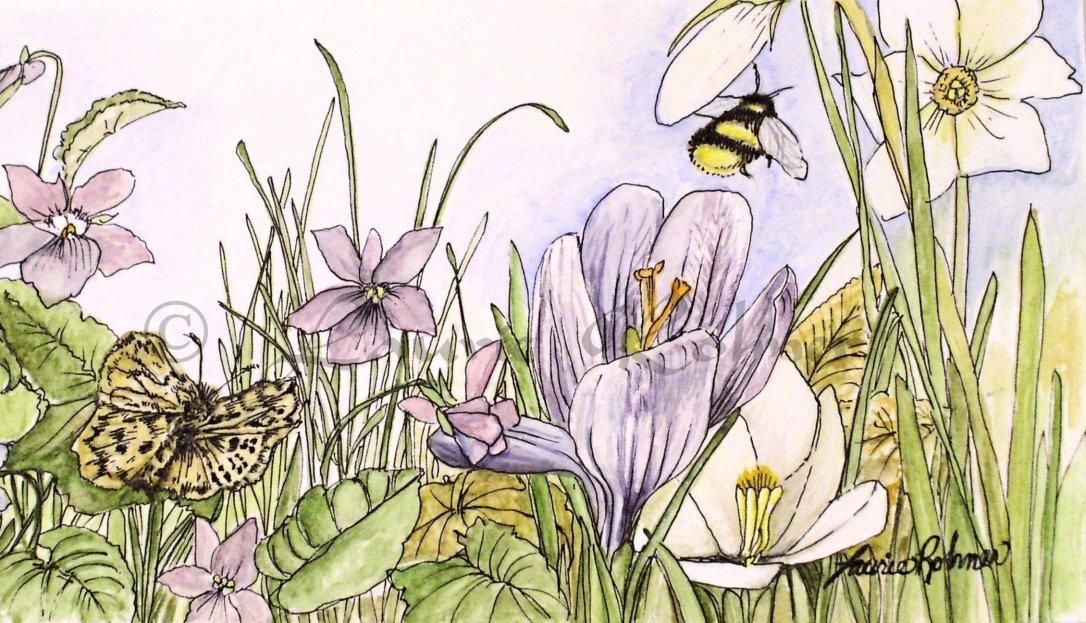 Title: Alive in a Spring Garden.