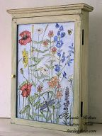 Painted Wall Hanging Cabinet