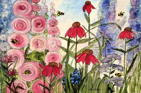 Original Art Botanical Painting
