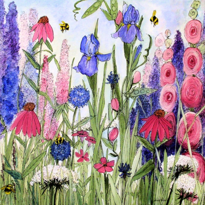 contemporary-colorful-garden-flower-painting-prints