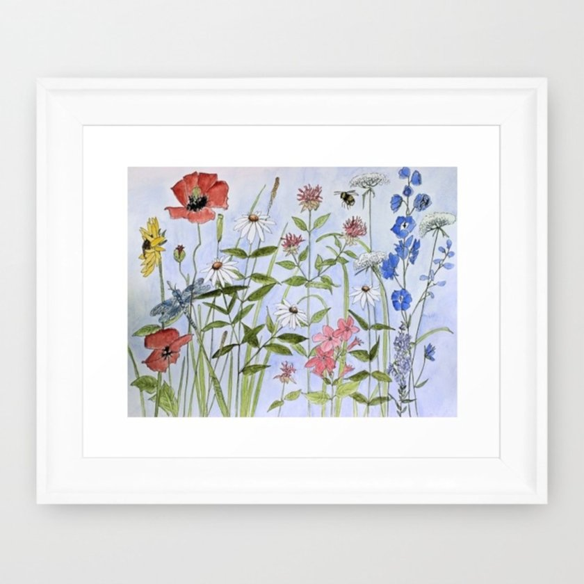 contemporary-flower-wildflower-watercolor-framed-prints