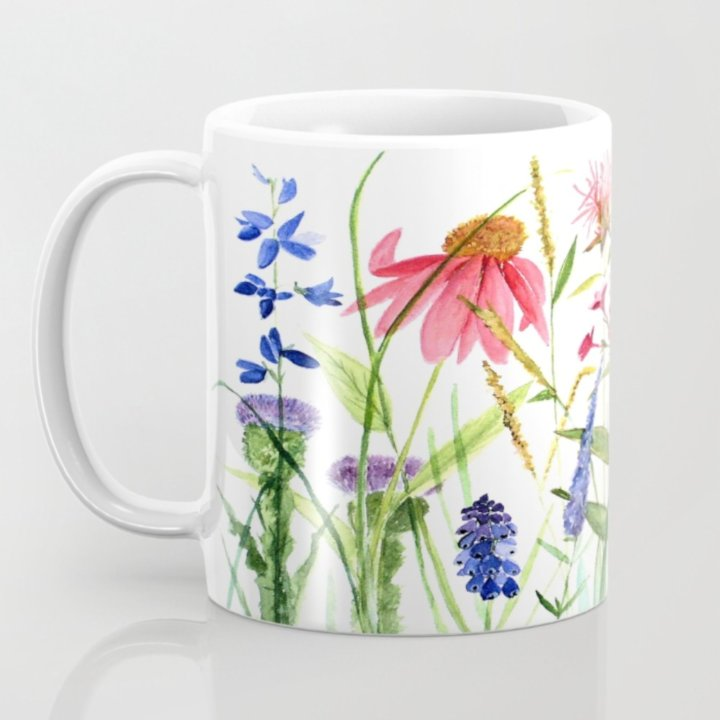 flowers garden flowers printed on mug