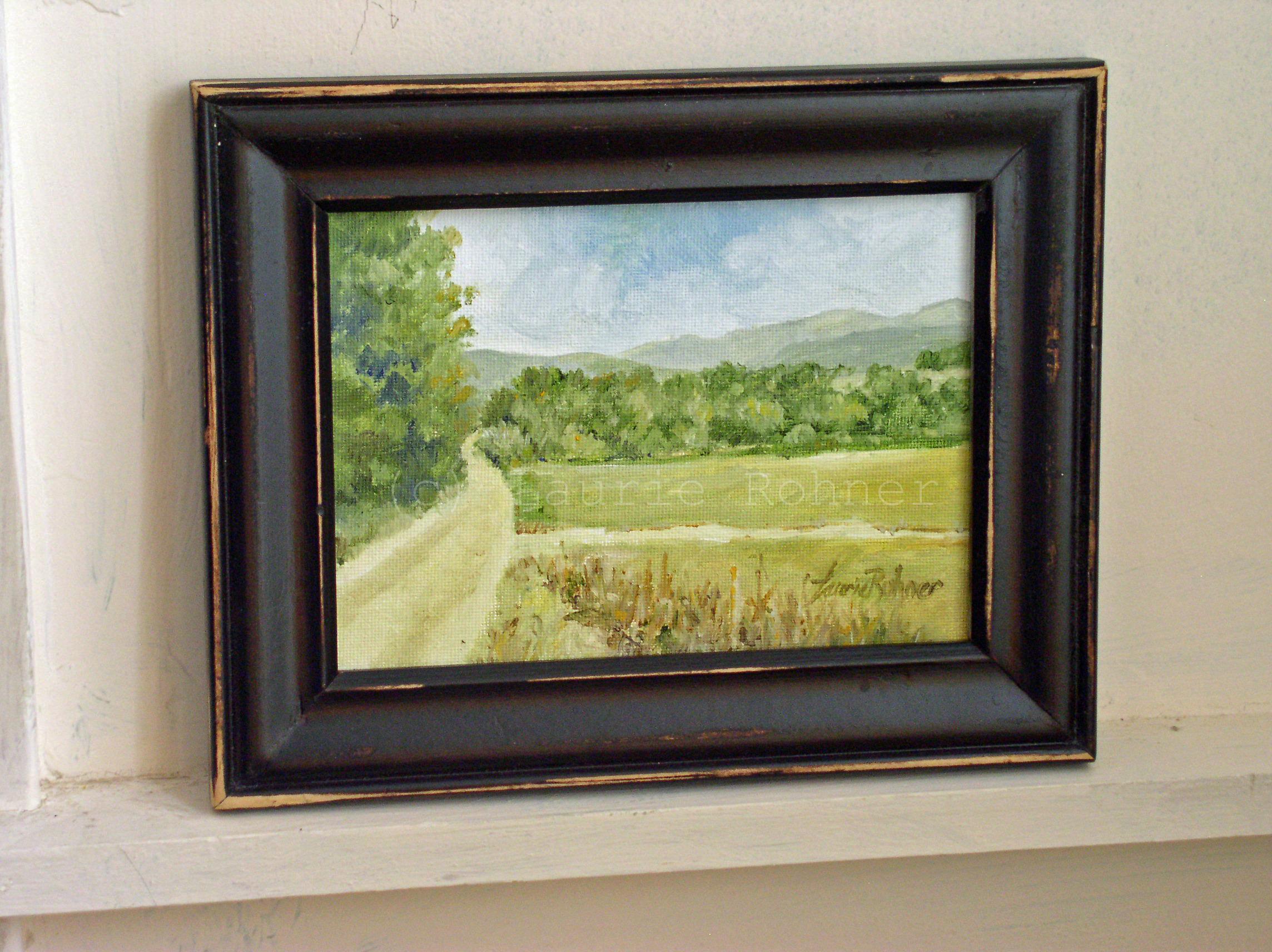 Impressionism Landscape Oil Painting Dirt Road Vermont