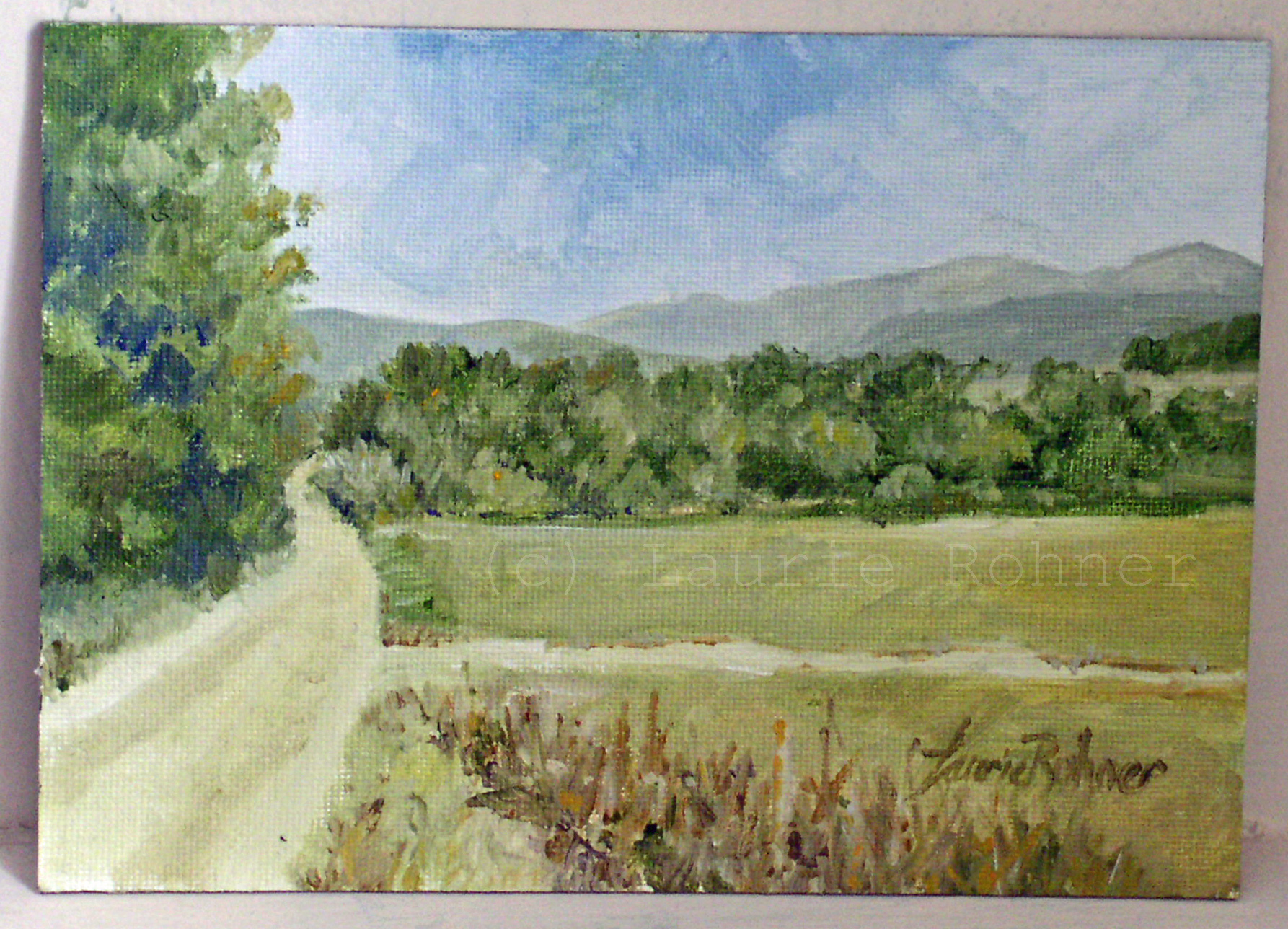 Landscape Oil Painting Dirt Road Vermont